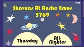 Shavuos Learning Program at Anshe Emes