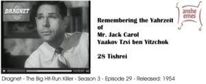 Jack Carol, featured on Dragnet