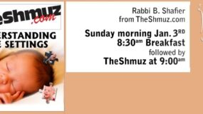 TheShmuz – January 3: Understanding Life Settings