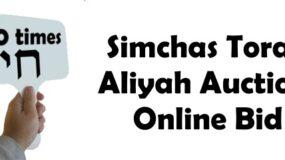 Bid on Simchas Torah Kibudim — Before the Auction!