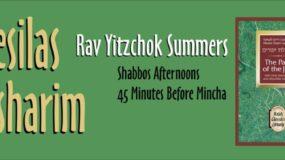 Mesilas Yesharim – Shabbos Afternoons, 45 minutes before Mincha