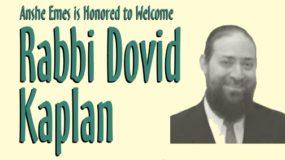 Rabbi Dovid Kaplan – Post-Kiddush Drasha