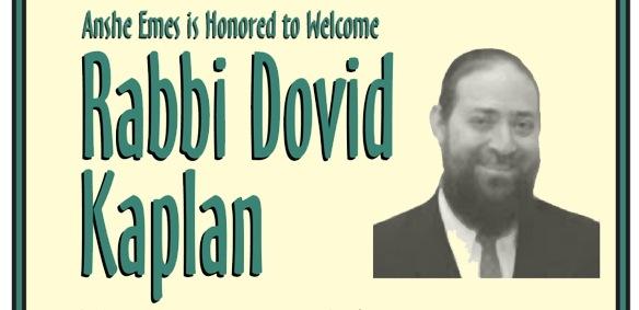 Rabbi Dovid Kaplan - Post-Kiddush Drasha
