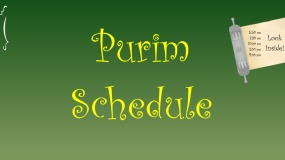 Purim Schedule