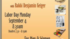 Shabbos Kitchen Series: Borer  — Labor Day 8:30am