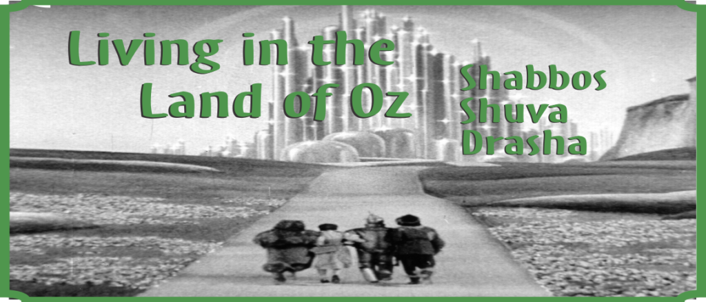 Shabbos Shuva – Living in the Land of Oz