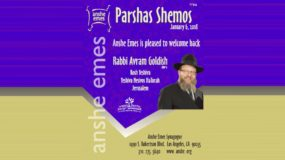Rabbi Avram Goldish – Shabbos Shemos – 6 Jan 2018